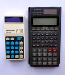 Comparison with a more modern calculator.