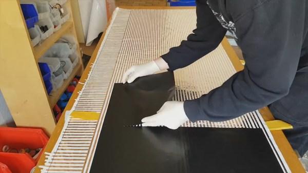 Large hi-res pressure sensor mat