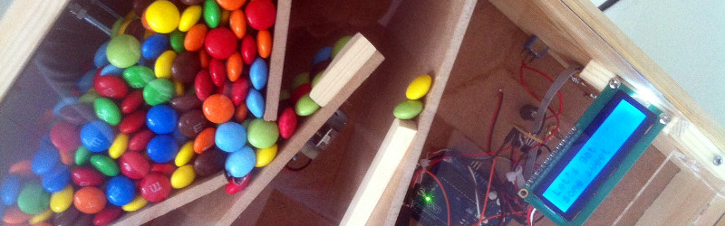 Get Your Smarties Or M&Ms From A Vending Machine | Hackaday