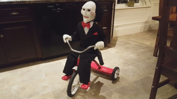 Remote controlled Billy from the Saw movies