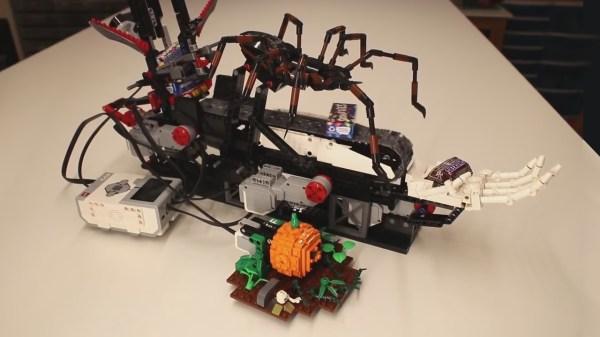 Scary LEGO chocolate dispensing machine