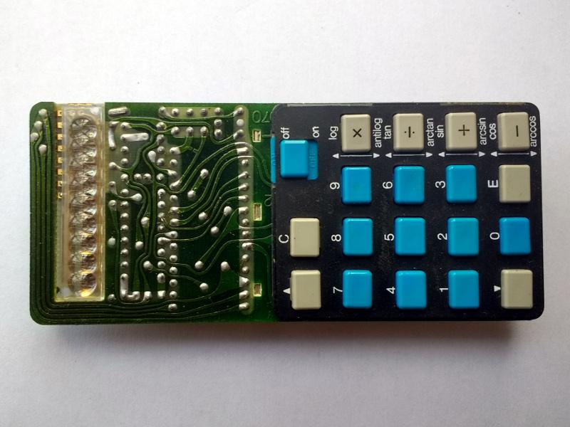 The Sinclair Scientific, keyboard side.