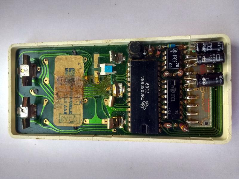 The Sinclair Scientific circuit board, component side.