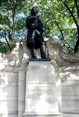[Brunel]'s memorial on the Embankment.