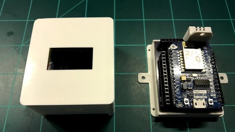 ESP8266 Home Monitor Is Stylishly Simplistic | Hackaday