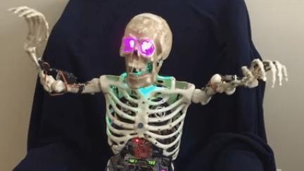 Skelly the skeleton robot
