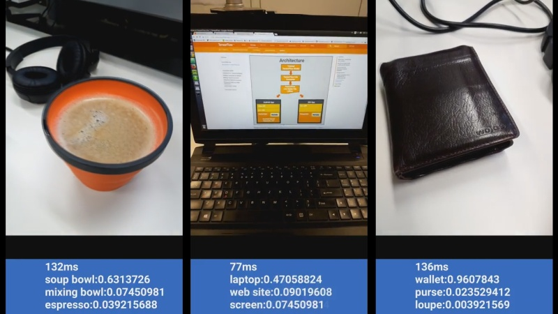 TensorFlow Lite demos