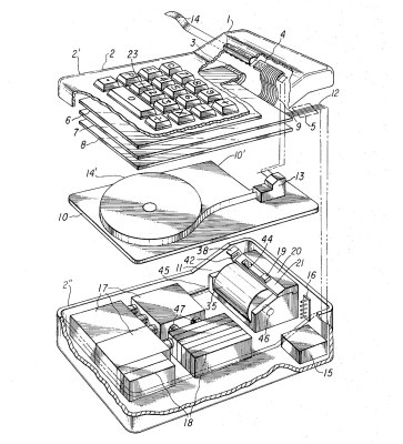 Fig. 2 from US 3,819,921 Miniature electronic calculator