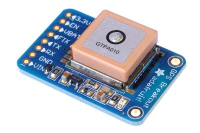 A handy GPS module from Adafruit. Oomlout [CC BY-SA 2.0]