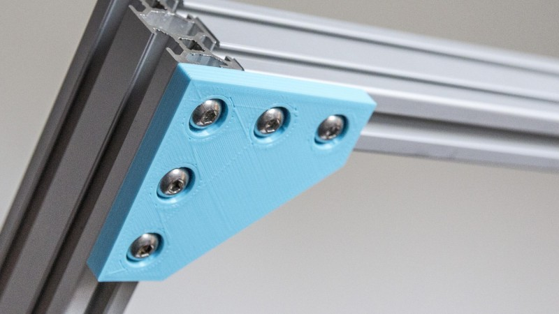 If 3D Printer, Then Custom Aluminum Extrusion Brackets