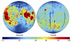 Helium 3 distribution on the Moon
