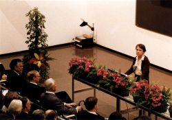 Giving her Nobel Lecture
