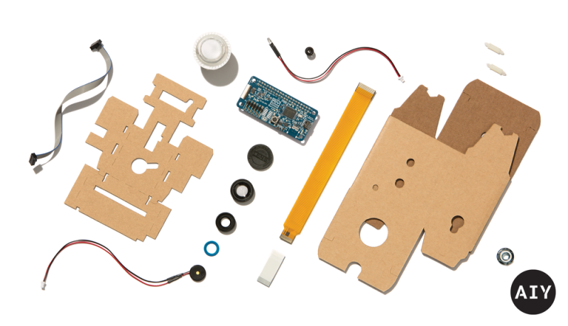 Google's AIY Vision Kit exploded view