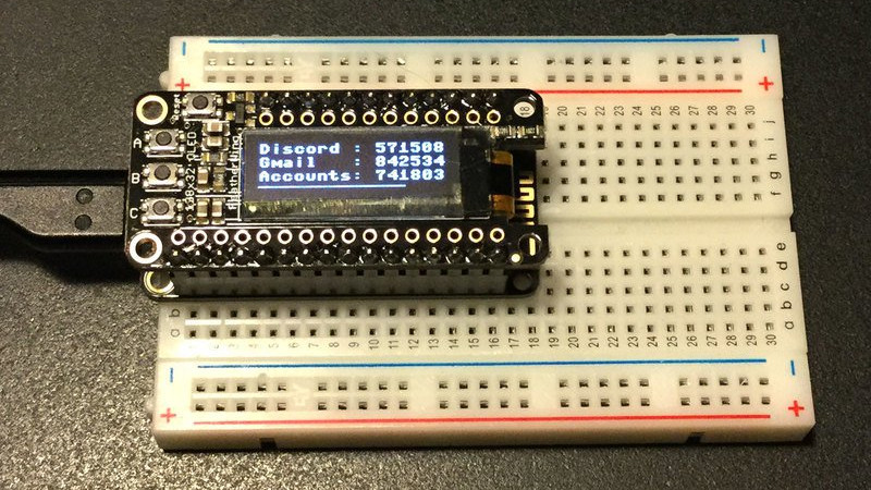Two Factor Authentication With The ESP8266   Hackaday