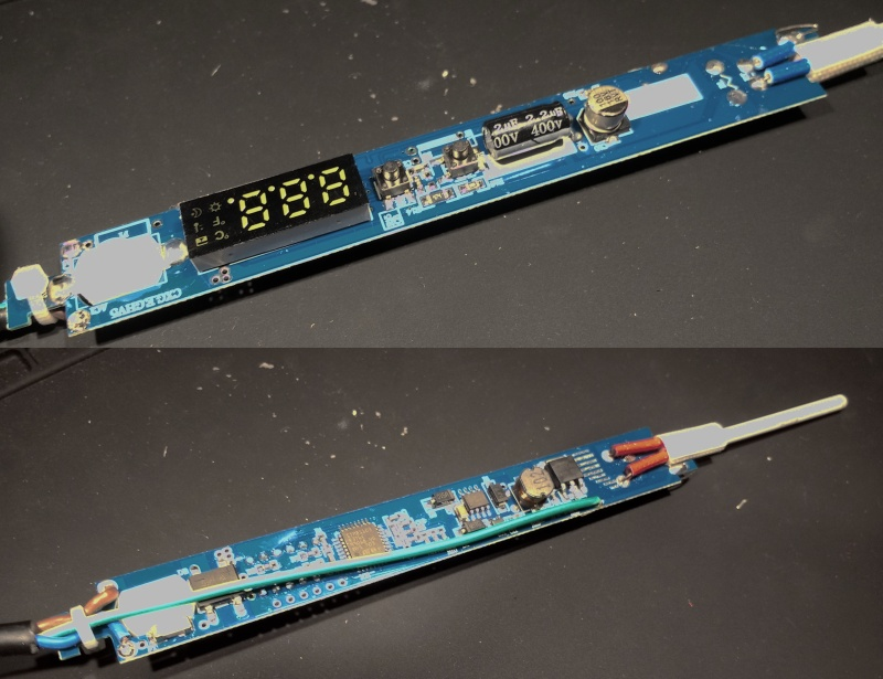The PCB top and bottom.