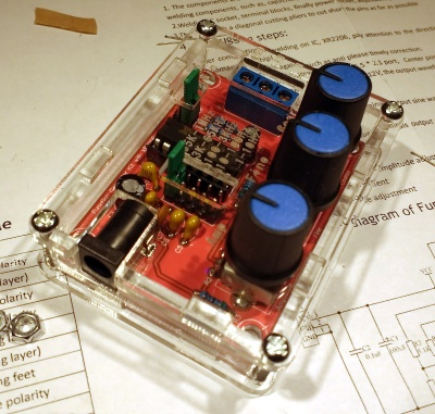 Don't buy this function generator kit unless you have a soldering iron to test.