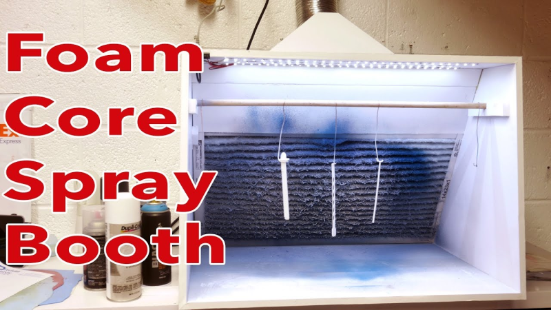 DIY Spray Booth Is Both Light And Lit