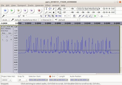 Fortunately there is nothing too sensitive controlled by this 433MHz waveform that I have just revealed to the world.