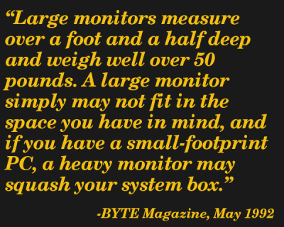 Quote from May 1992 BYTE Magazine