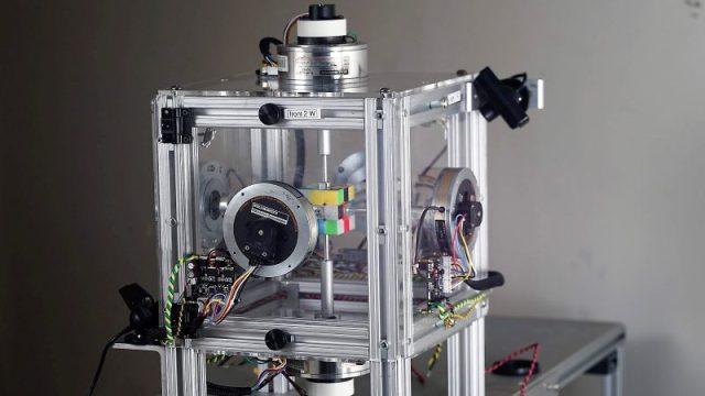 Rubik's Robot So Fast It Looks Like A Glitch In The Matrix