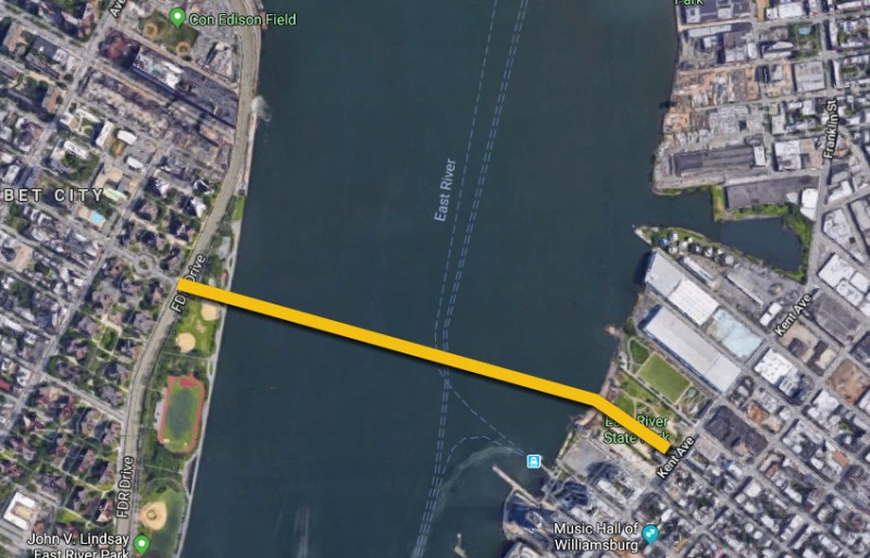 The Pontoon Bridge Being Floated As An NYC Transit Fix