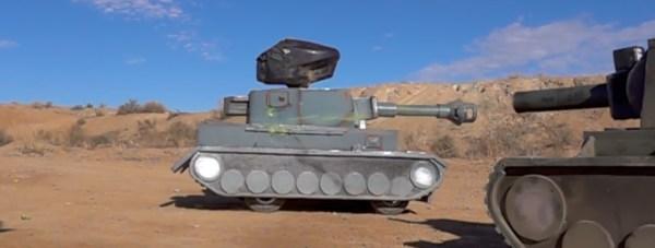 RV paintball shooting tank