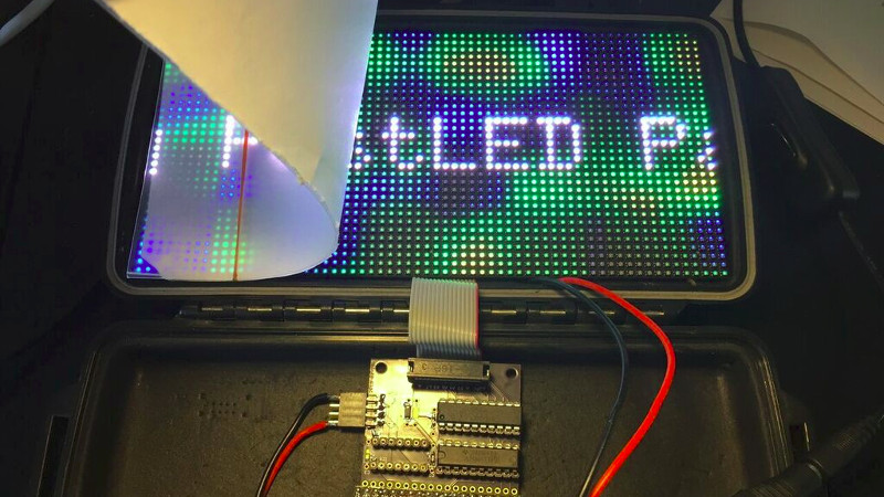 Fast LED Matrix Graphics For The ESP32 | Hackaday
