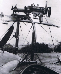 A Foster mount with a Lewis gun