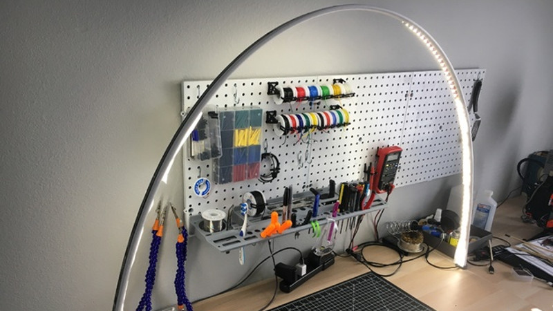 Pleasant Workbench Light Arch On The Cheap Hackaday Machost Co Dining Chair Design Ideas Machostcouk