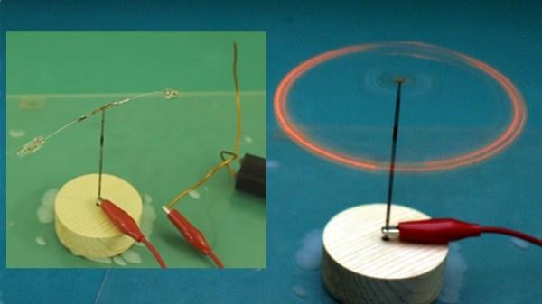 Neon lamp ion motor