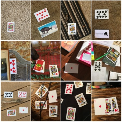 Collage of images for card dataset