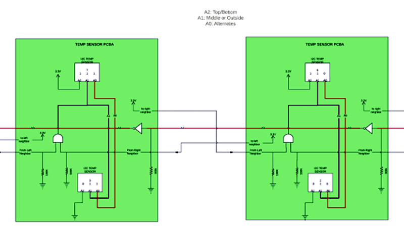 Automatic I2C Address Allocation For Daisy-Chained Sensors | Hackaday