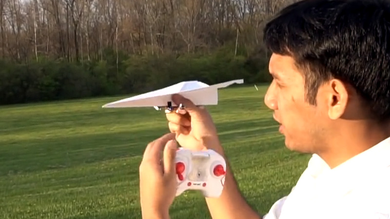 RC Paper Airplane From Guts Of Quadcopter | Hackaday
