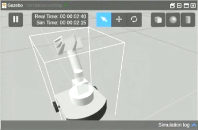 Robot arm simulation in Gazebo
