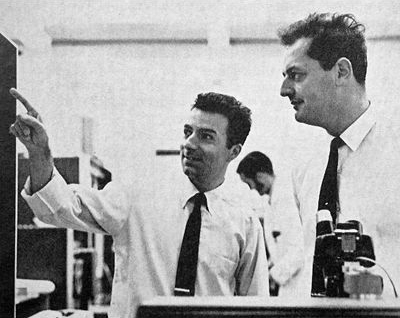 Faggin and Tom Klein At Fairchild in 1967