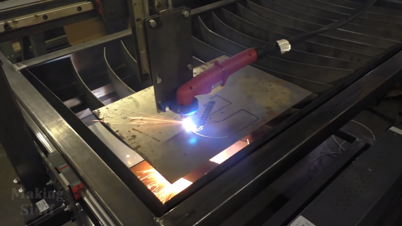 A Cnc Plasma Cutter Table From The Shop Floor Up Hackaday
