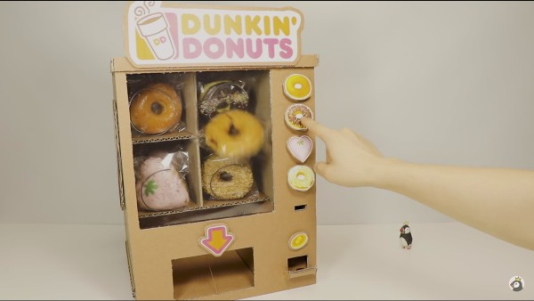 Donut vending machine without microcontroller