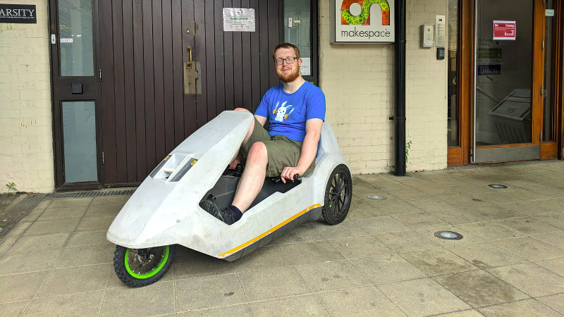 The Electric Vehicles Of EMF Camp: A Sinclair C5, (Almost) As It
