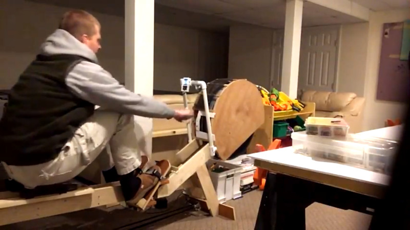 Build Your Own Rowing Machine Now With Digital Readout Hackaday