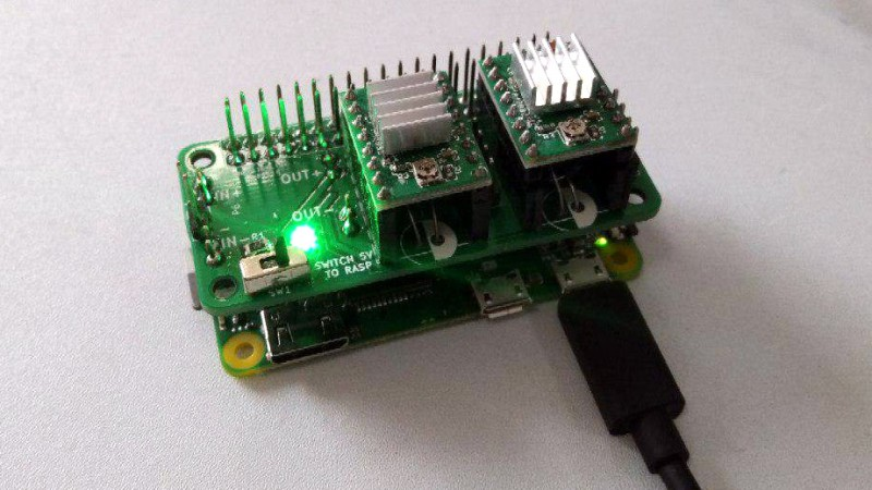 Raspberry Pi Zero Stepper Driver, First Of Many Modules | Hackaday
