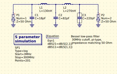My revised filter circuit with off-the-shelf component values.