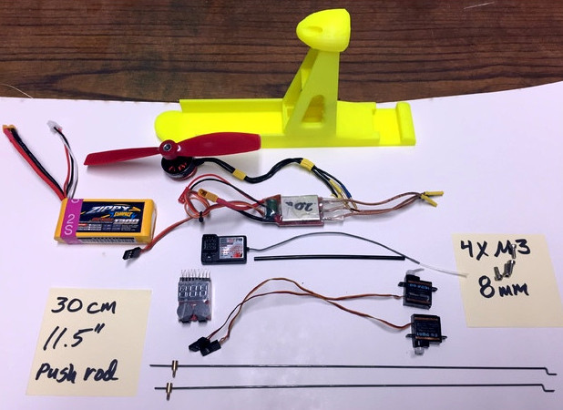 3D Printed Upgrade For Cheap Foam Glider | Hackaday