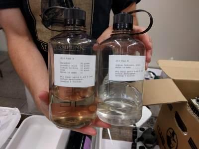 Holographic film development chemicals