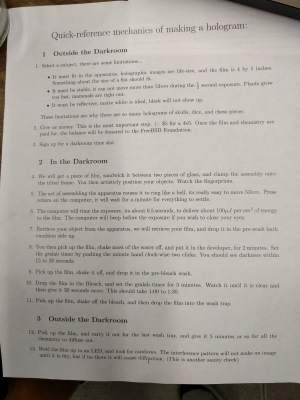Tommy Johnson Holography Guide Pg1