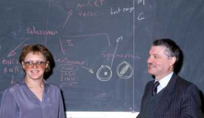 Barré-Sinoussi and Montagnier in 1983