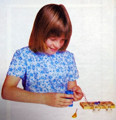The pic of a reader from George Dobbs' Learnabout Electronics. That was the peak of my 12yo electronics attainment.