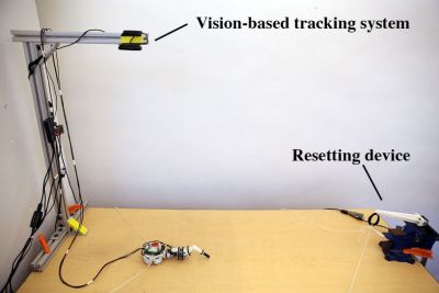 Learning environment for Disney's modular robot legs