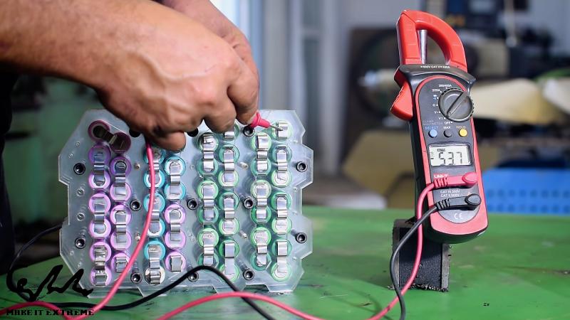 An E-Bike Battery Pack Without Spot Welding