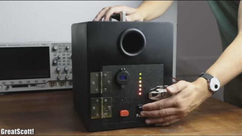 Boombox made from a shelf speaker