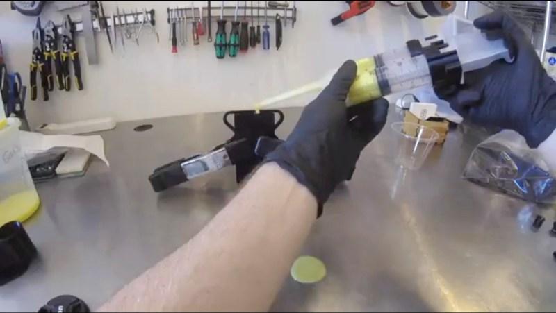 3D printed syringe static mixer
